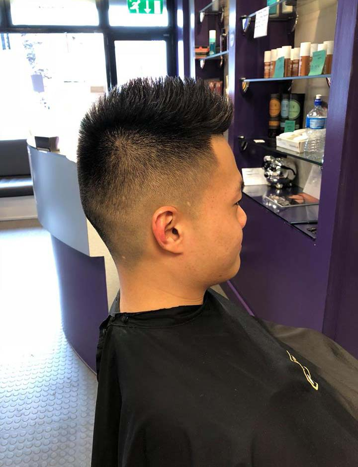Mens haircut side view