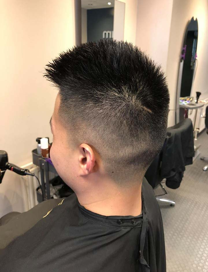 Fresh haircut from the side