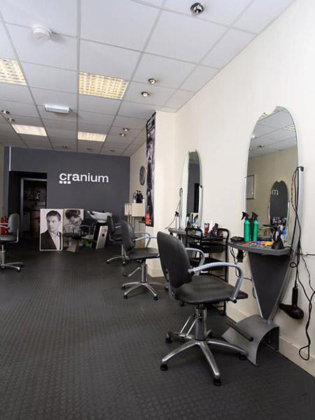 Inside Cranium barbers