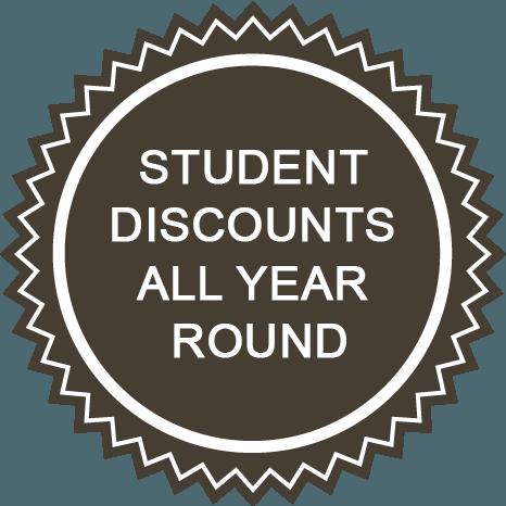 Student Discount sunburst